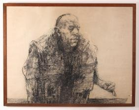Herbert Olds Charcoal Drawing