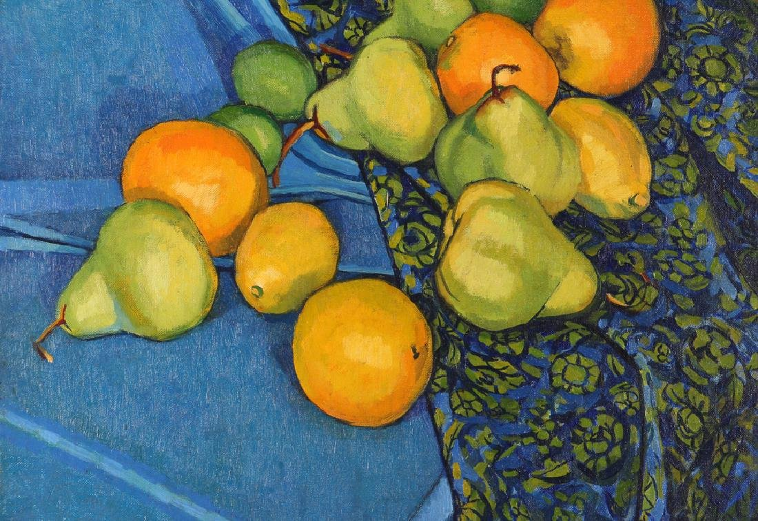 "Jerry Pfohl oil ""Still Life of Oranges and Pears"" oil - 4"