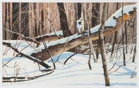 Charles Pitcher 1996 watercolor Mt. Davis
