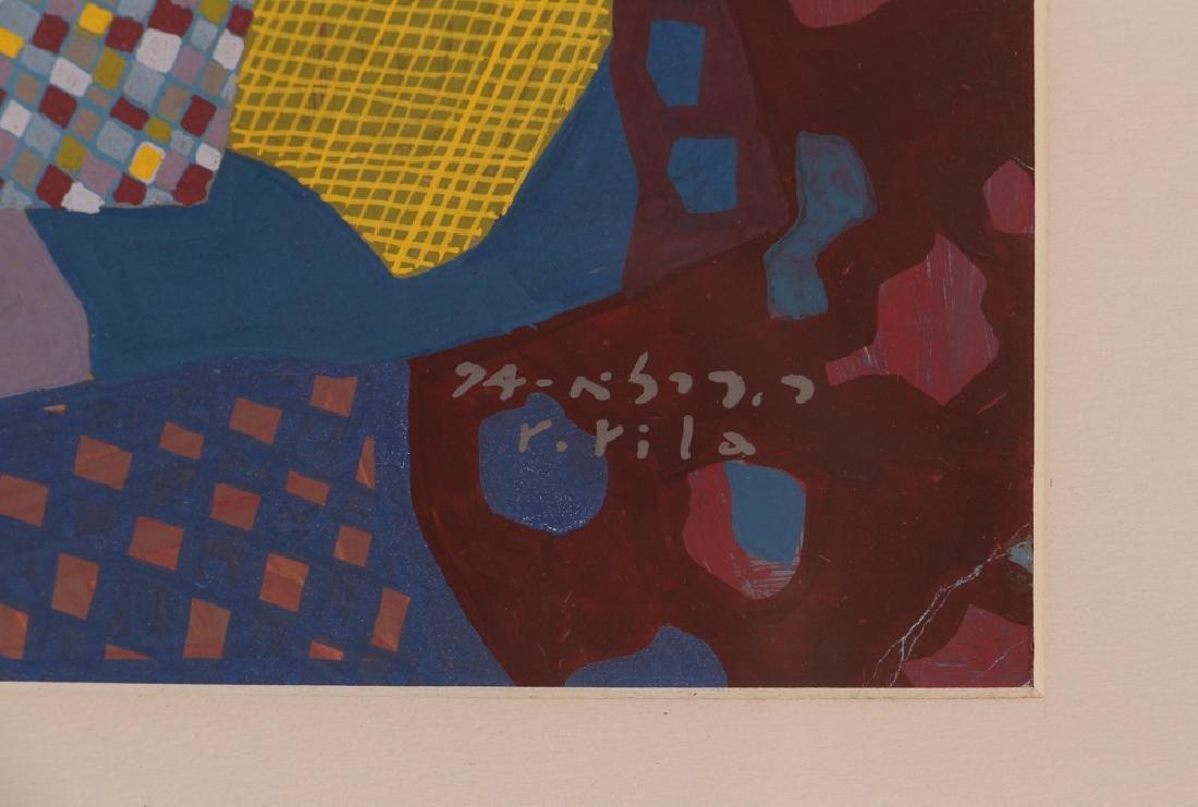 Rafael Rila Gouache Cityscape Painting - 3