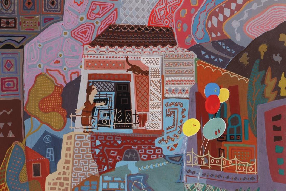 Rafael Rila Gouache Cityscape Painting - 4