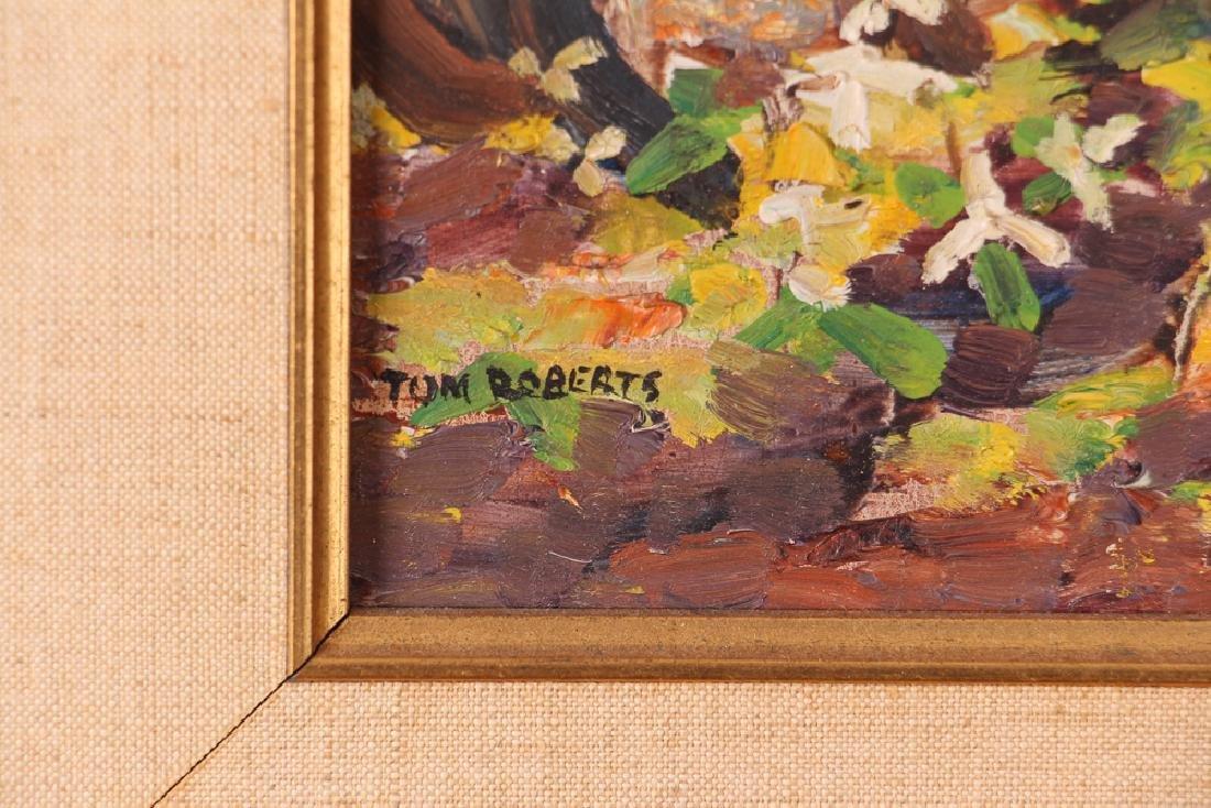 "Thomas Keith Roberts painting ""Little Girls Picking - 3"
