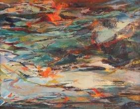 Marjorie Romyns Mountain Brook Painting