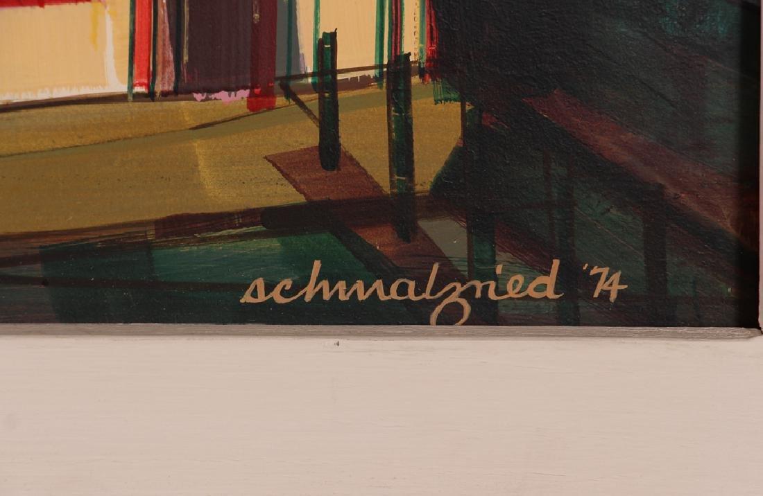Robert Schmalzried November 1974 Oil on Masonite - 3