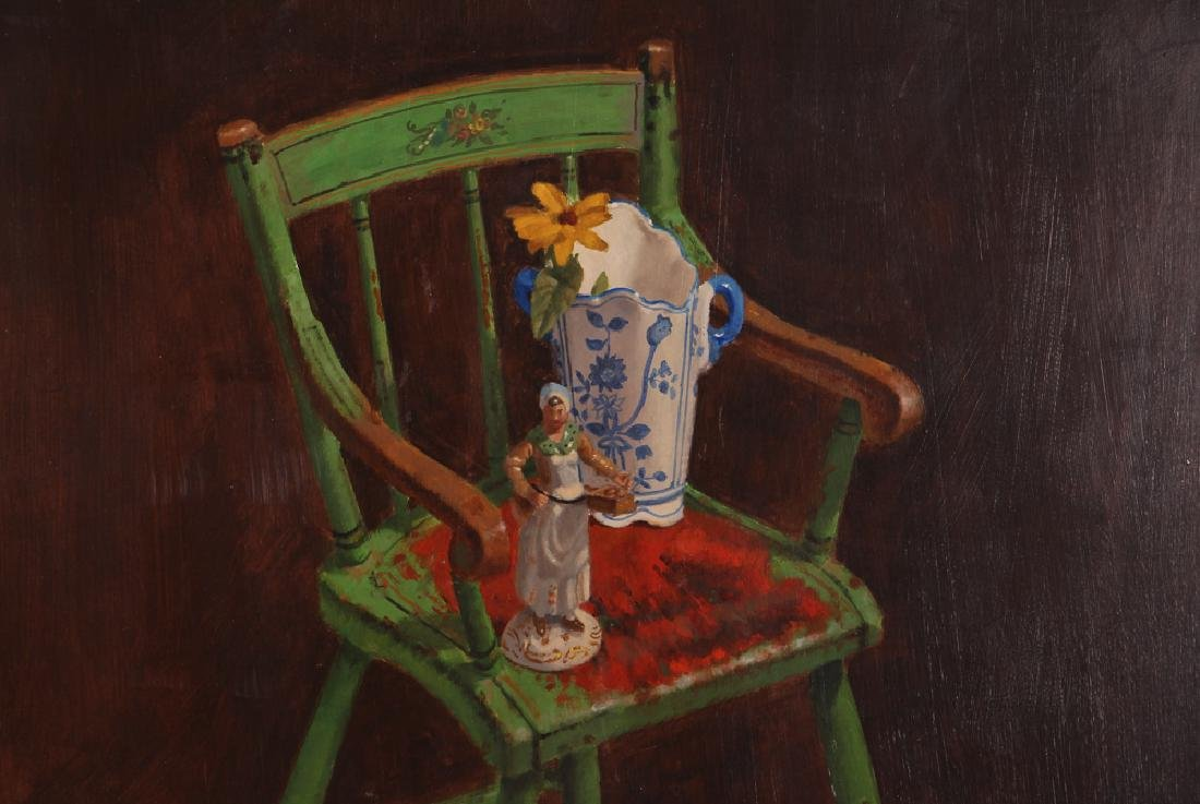 "John P. Semple 2003 painting ""Green High Chair"" - 4"