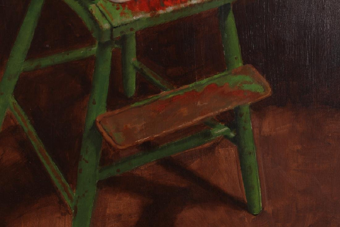 "John P. Semple 2003 painting ""Green High Chair"" - 6"