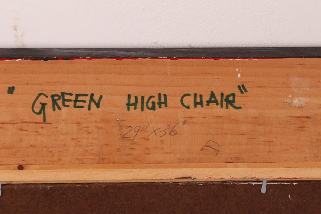 "John P. Semple 2003 painting ""Green High Chair"" - 8"