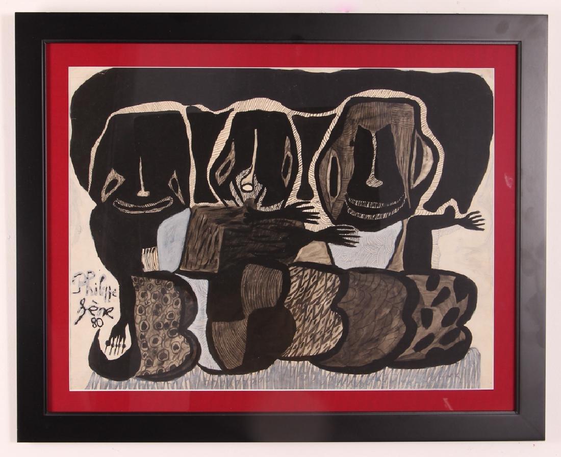 Philippe Sene Untitled Gouache Painting - 2