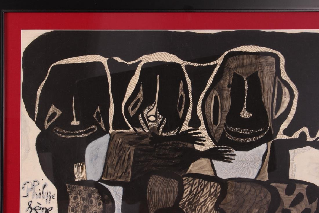 Philippe Sene Untitled Gouache Painting - 4