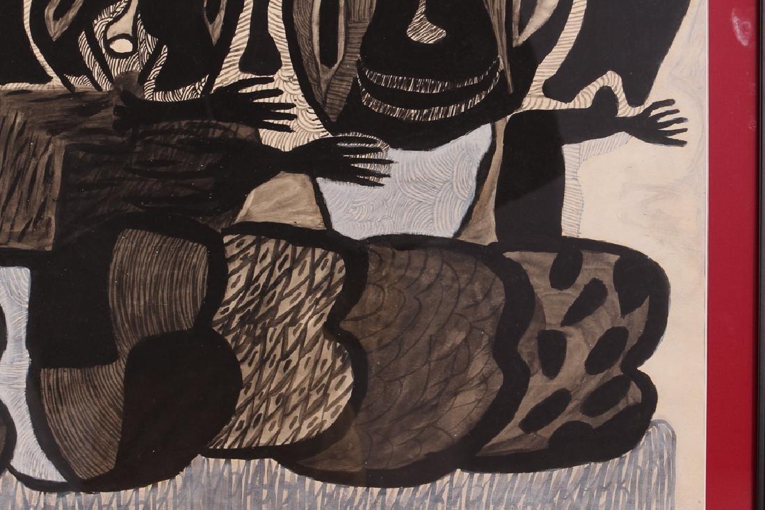 Philippe Sene Untitled Gouache Painting - 5