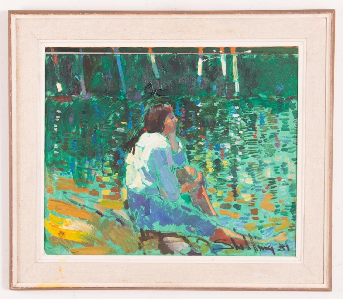 "Arthur Shilling  1981 painting ""Native American Woman - 2"