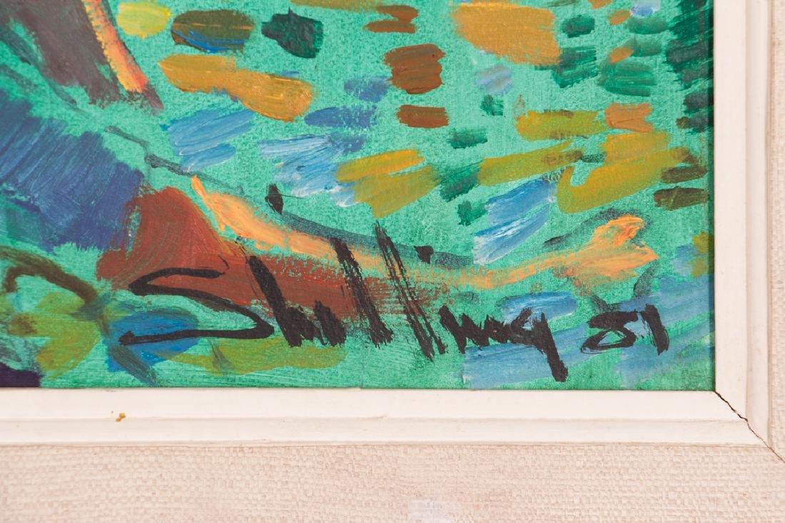 "Arthur Shilling  1981 painting ""Native American Woman - 3"