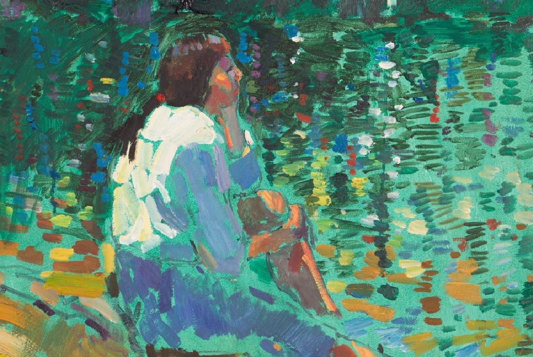 "Arthur Shilling  1981 painting ""Native American Woman - 4"