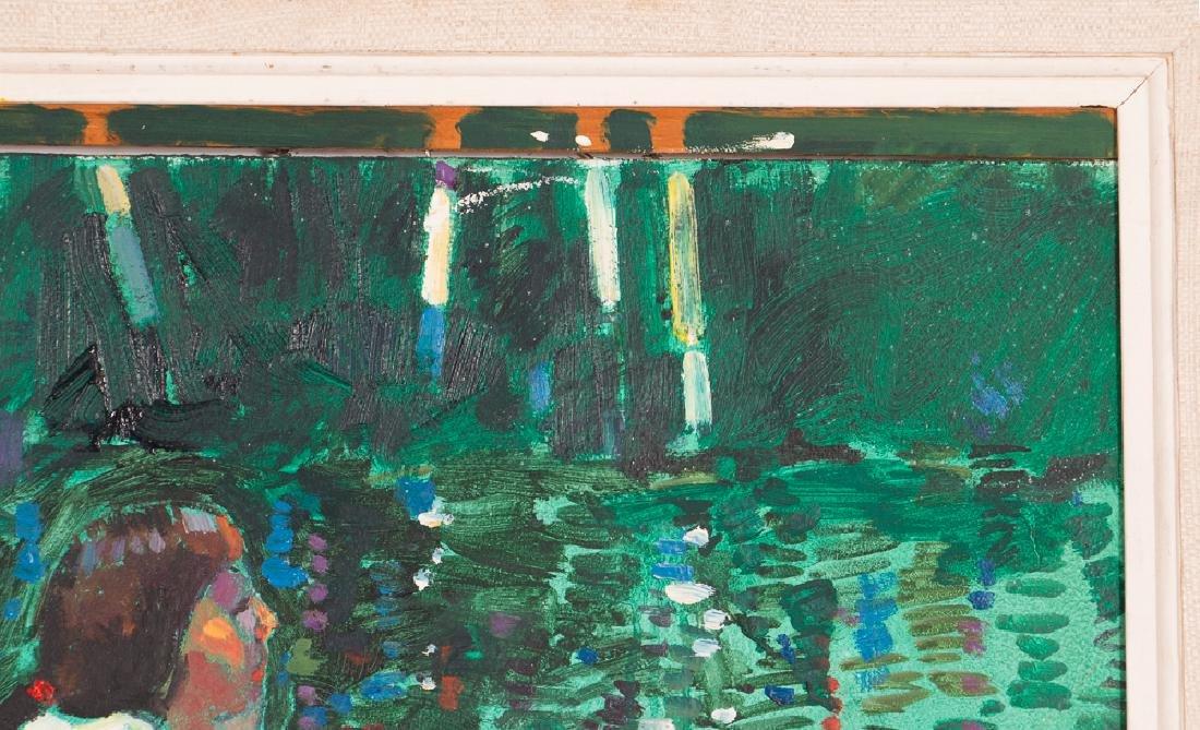 "Arthur Shilling  1981 painting ""Native American Woman - 7"