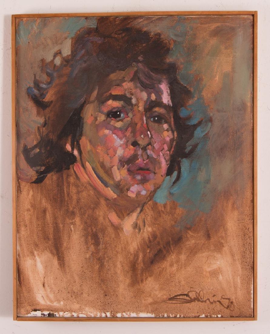 Arthur Shilling  1970 Self Portrait painting
