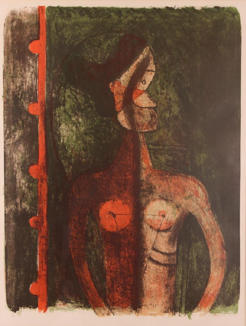 Rufino Tamayo Print With Figure