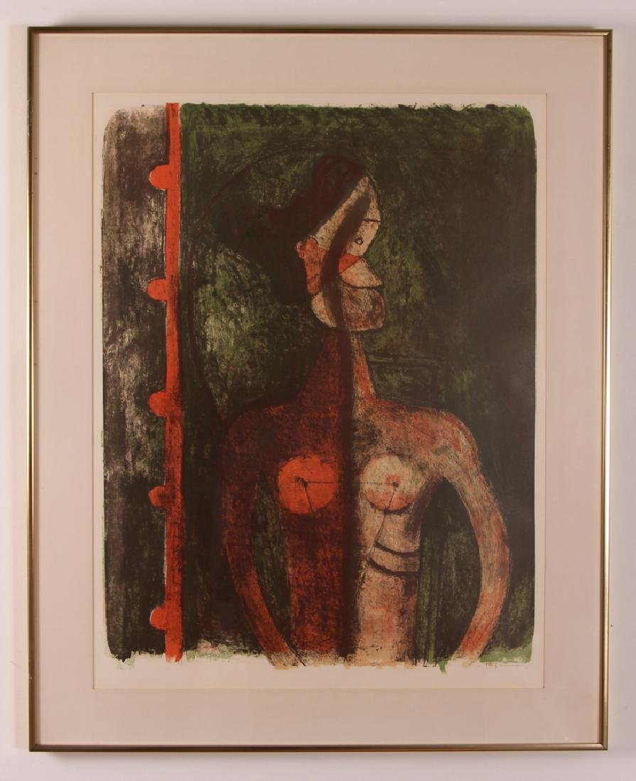 Rufino Tamayo Print With Figure - 2