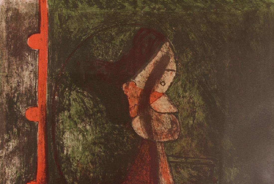 Rufino Tamayo Print With Figure - 5