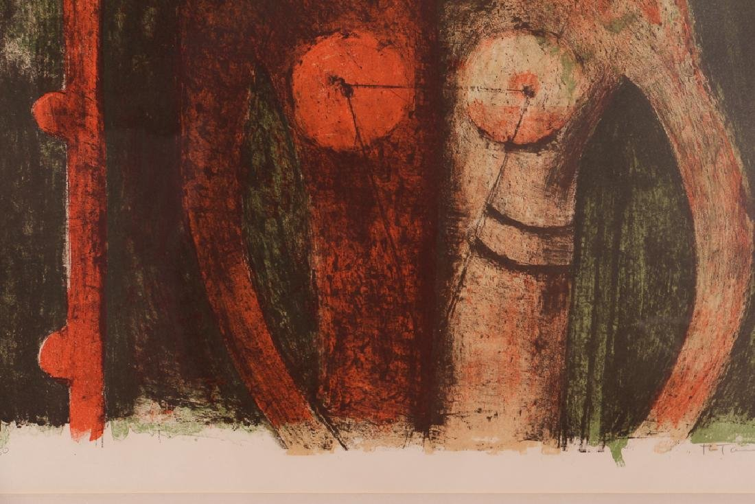 Rufino Tamayo Print With Figure - 7