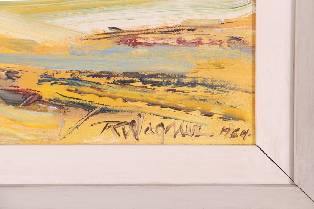 Richard Wagner Quarrelling Gulls Seaside Painting - 3