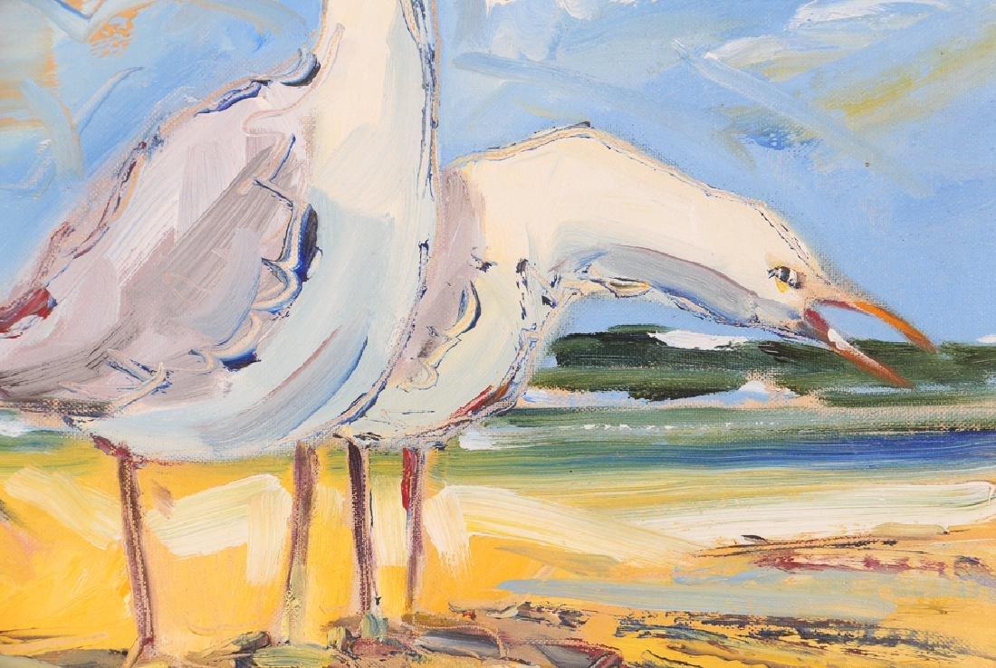Richard Wagner Quarrelling Gulls Seaside Painting - 4