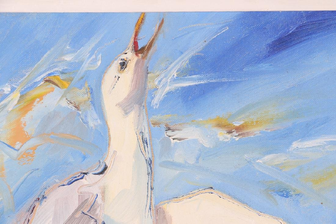 Richard Wagner Quarrelling Gulls Seaside Painting - 6