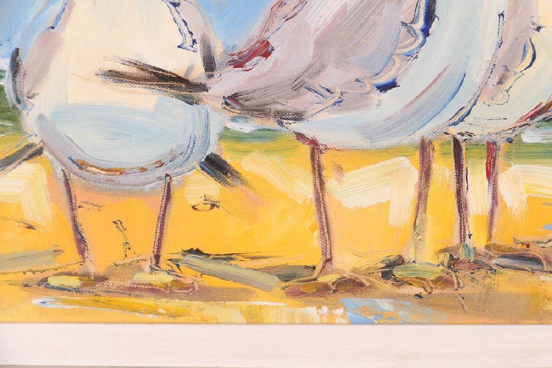 Richard Wagner Quarrelling Gulls Seaside Painting - 7