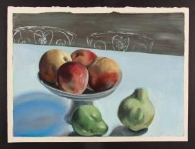 Louis Witkin Still-life with Apples and Pears