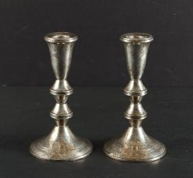 Weighted Sterling Duchin Creation Candlestick Pair