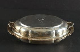 Monogrammed Wallace Sterling Covered Dish