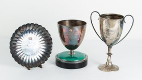 Four Asian Sterling Golf Trophies