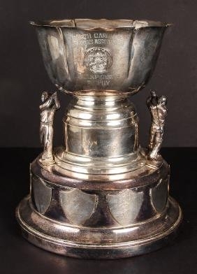 Large Pinehurst Sterling Silver Golf Trophy