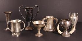 Seven Sterling Silver Golf Trophies