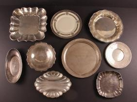 Nine Serving Tray Form Sterling Golf Trophies