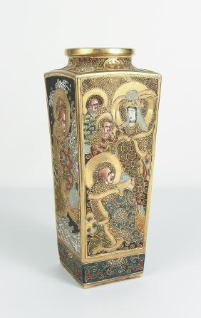 Meiji Japanese Export Satsuma Pottery Vase