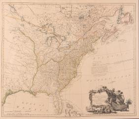 William Faden 1796 Map Eastern US, North America