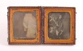 Two Memento Mori Daguerreotype Photos