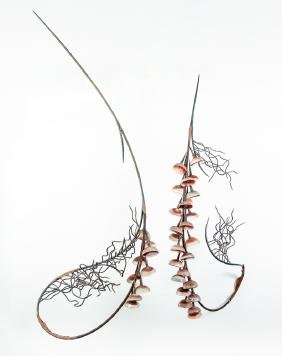 "Susan Edgerly ""Core III"", 1996, hanging mixed media"