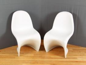 Pair Panton Chairs by Verner Panton