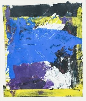 Abstract Expressionist Painting on Paper