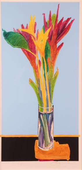 "Gary Bukovnik color monoprint ""Bird of Paradise"""
