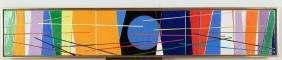 Virgil Cantini enamel on metal Microwaves #2, 1977
