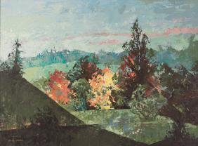 John Johns Acrylic Landscape Painting
