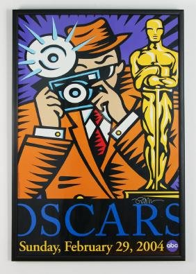 Burton Morris signed Oscars Poster