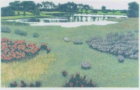 Gordon Mortensen Spring Pond Color Reduction Woodcut