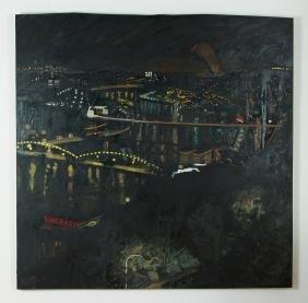Jim Nelson Monongahela River 1988 oil painting