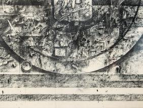 Herbert Olds Discards charcoal drawing
