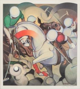 Wayne Pamenter Polo Players Print
