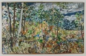 Sally Pettus Regatta 1979 oil on canvas