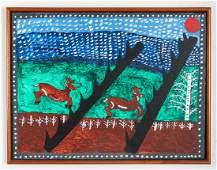 Lamont Pry Folk Art Painting